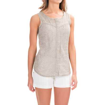 Toad&Co Airbrush Print Tank Top - Organic Cotton (For Women) in Cocoa - Closeouts