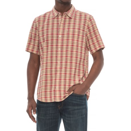 Toad&Co Airscape Shirt - Organic Cotton, Short Sleeve (For Men) in Frigate Red