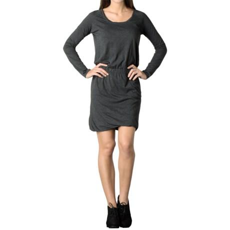Toad&Co Allisa Dress - Organic Cotton, Long Sleeve (For Women) in Black Heather