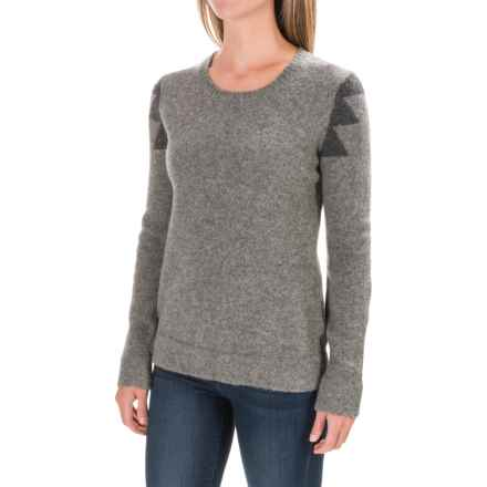 Toad&Co Amherst Sweater - Lambswool, Crew Neck (For Women) in Smoke Heather - Closeouts