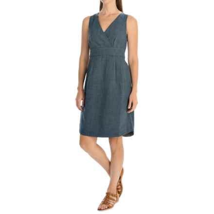 Toad&Co Atsuko Dress - Organic Cotton, Sleeveless (For Women) in Deep Navy - Closeouts
