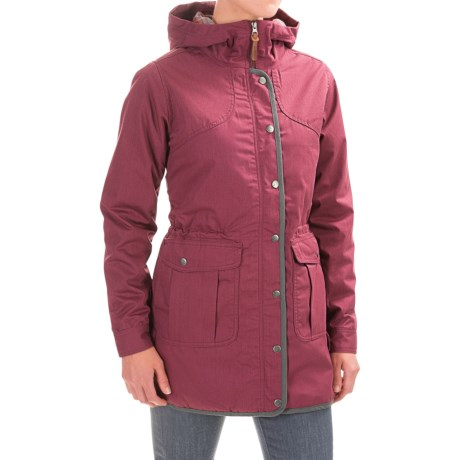 Toad&Co Bancroft Hooded Parka - Insulated (For Women) in Vino