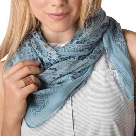 Toad&Co Bandana Print Scarf - Modal (For Women) in Weathered Blue - Closeouts