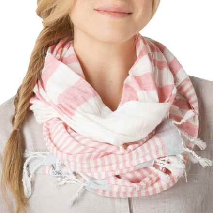 Toad&Co Beach Stripe Scarf - Organic Cotton (For Women) in Sorbet - Closeouts
