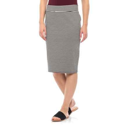 Toad&Co Black Stripe Transito Skirt (For Women) in Black Stripe - Closeouts