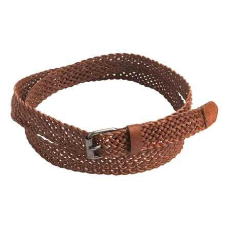 Toad&Co Braided Belt - Leather (For Women) in Burnt Henna - Closeouts