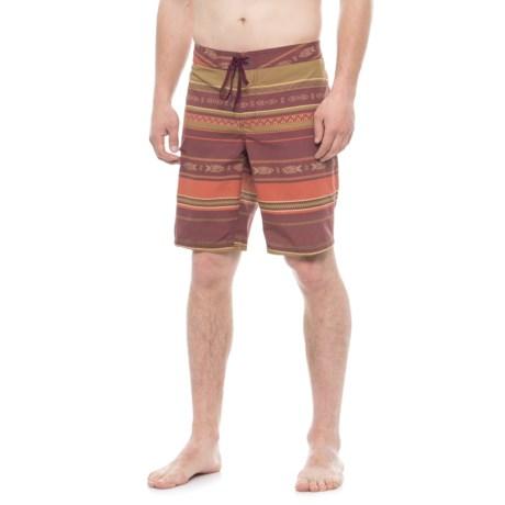 Toad&Co Cetacean Swim Trunks - UPF 40+ (For Men) in Sangria Weave Print