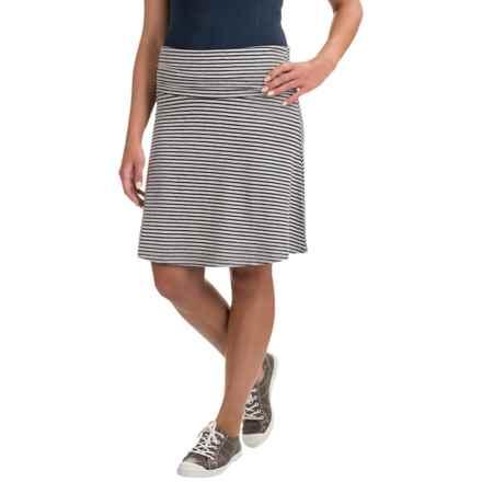 Toad&Co Chaka Skirt - TENCEL®-Organic Cotton (For Women) in Deep Navy Stripe - Closeouts