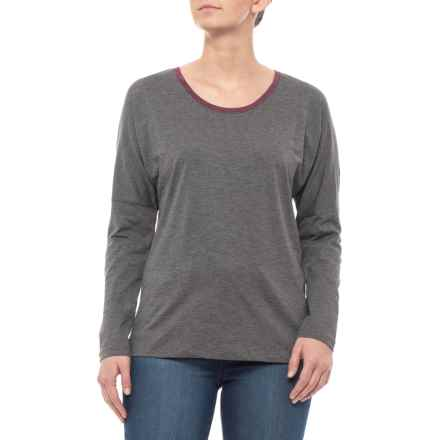 a50969e253d Toad Co Charcoal Heather Downton T-Shirt - Long Sleeve (For Women) in  Charcoal