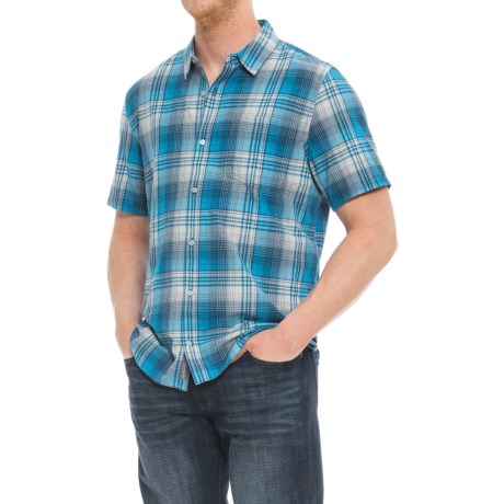 Toad&Co Coolant Shirt - Organic Cotton, Short Sleeve (For Men) in Blue Foot
