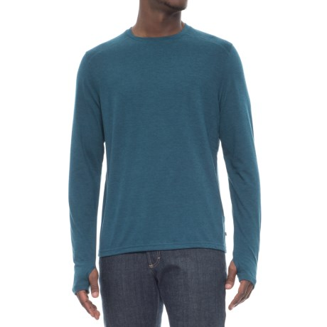 Toad&Co Debug Lightweight Crew Shirt - Long Sleeve (For Men) in Blue Abyss