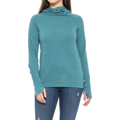 Toad&Co Debug Sport Hoodie Shirt - Insect Shield®, UPF 20, Long Sleeve (For Women) in Hydro