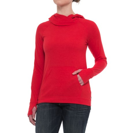 Toad&Co Debug Sport Hoodie Shirt - Insect Shield®, UPF 20, Long Sleeve (For Women) in Parakeet Red