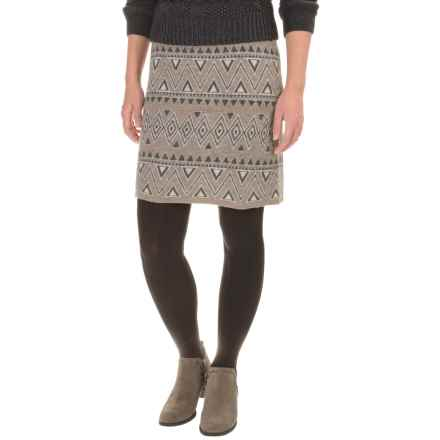 Toad&Co Diamond Sweater Skirt - Boiled Merino Wool (For Women) in Falcon Brown - Closeouts