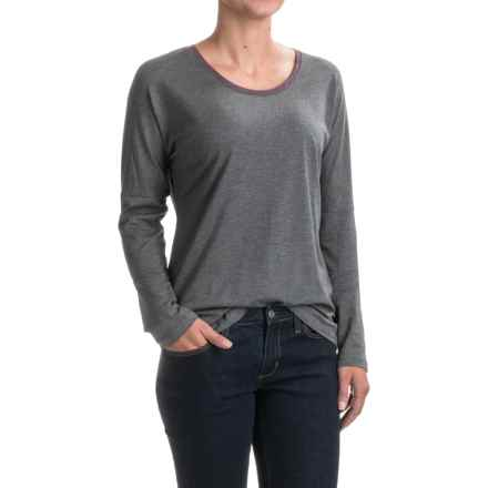 Toad&Co Downton T-Shirt - Organic Cotton-TENCEL®, Long Sleeve (For Women) in Charcoal Heather - Closeouts