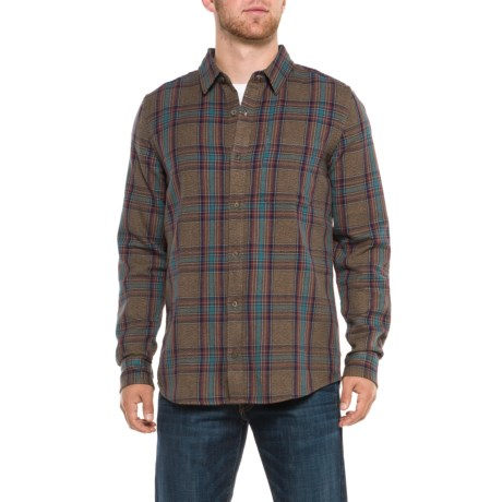 Toad&Co Earle Shirt - Organic Cotton, Long Sleeve (For Men) in Honey Brown