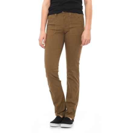 Toad&Co Earthworks Stretch Canvas Pants - Organic Cotton (For Women) in Seal Brown - Closeouts