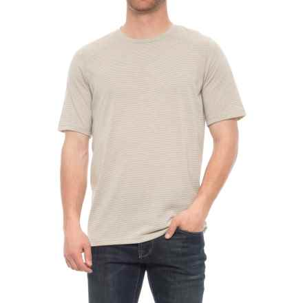 Toad&Co Embarko T-Shirt - Crew Neck, Short Sleeve (For Men) in Pelican Stripe - Closeouts