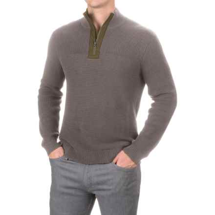 Toad&Co Emmett Sweater - Zip Neck, Organic Cotton (For Men) in Jeep - Closeouts