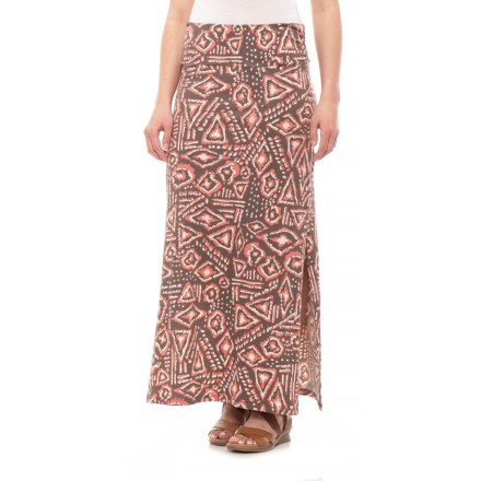 01d19aca12ed Toad Co Falcon Brown Brush Print Montauket Long Skirt (For Women) in Falcon  Brown Brush