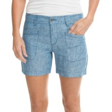 Toad&Co Farflung Shorts - Linen (For Women) in Tuareg - Closeouts