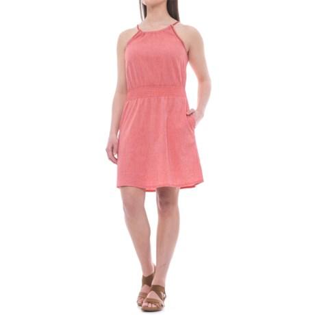 Toad&Co Festi 3/4 Length Dress - Organic Cotton, Sleeveless (For Women) in Parakeet Red