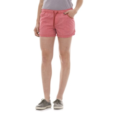 "Toad&Co Festi Shorts - 3"", Organic Cotton (For Women) in Parakeet Red"