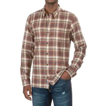 Toad&Co Flannagan Plaid Shirt - Long Sleeve (For Men) in Dark Chestnut - Closeouts