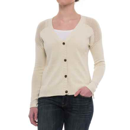 Toad&Co Floreana Cardigan Sweater - Organic Cotton (For Women) in Salt - Closeouts