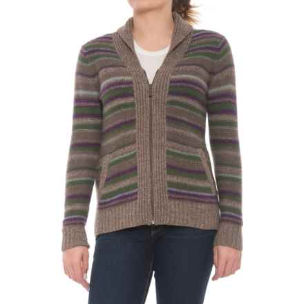 Toad&Co Glenfyne Zip Cardigan Sweater - Lambswool (For Women) in Kale - Closeouts