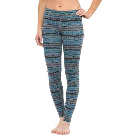 Toad&Co Grandstand Pattern Tights (For Women) in Blue Abyss Print - Closeouts
