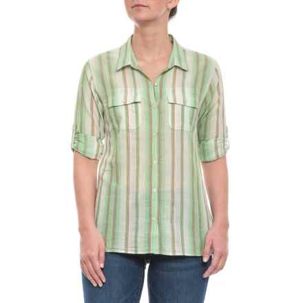 Toad Co Green Awning Stripe Airbrush Shirt - Long Sleeve (For Women) in  Green Awning 42afde778dc