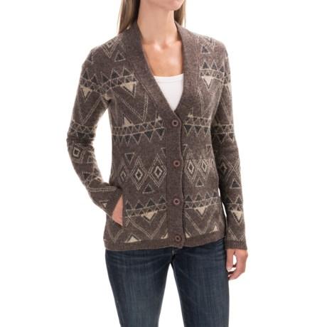 Toad&Co Heartfelt Diamond Cardigan Sweater (For Women) in Falcon Brown