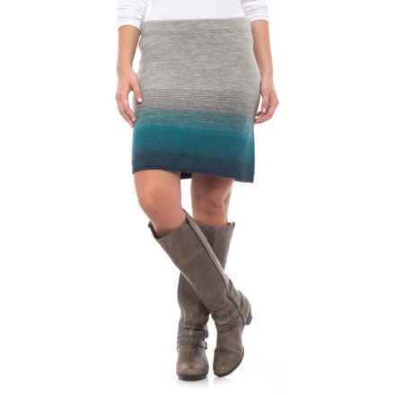 Toad&Co Heartfelt Sweater Skirt - Merino Wool (For Women) in Light Heather Grey - Closeouts