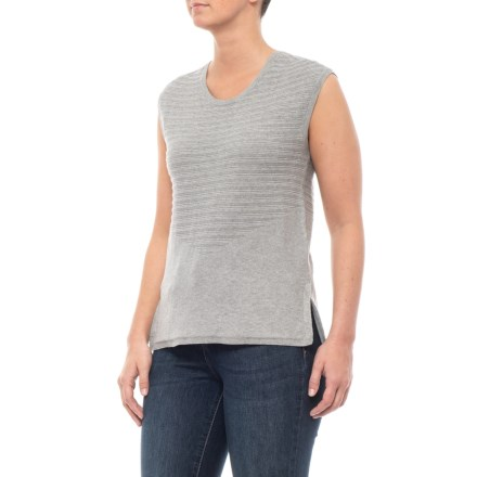 090c9cdf Toad&Co Heather Grey Summery Sweater - Organic Cotton, Sleeveless (For  Women) in Heather