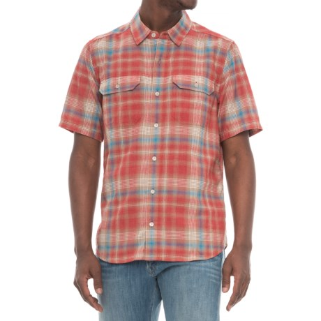 Toad&Co Hookline Shirt - Recycled Fibers, Short Sleeve (For Men) in Red Clay