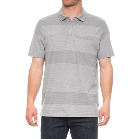 Toad&Co Jack Polo Shirt - Organic Cotton, Short Sleeve (For Men) in Light Ash