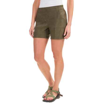 Toad&Co Jetlite Shorts - UPF 40+ (For Women) in Falcon Brown Print - Closeouts