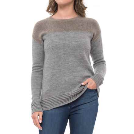 Toad&Co Kaya Boiled Wool Sweater - Crew Neck (For Women) in Cocoa - Closeouts