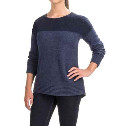 Toad&Co Kaya Boiled Wool Sweater - Crew Neck (For Women) in Deep Navy - Closeouts