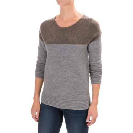 Toad&Co Kaya Boiled Wool Sweater - Crew Neck (For Women) in Heather Gray - Closeouts