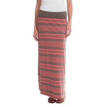 Toad&Co Keyboard Maxi Skirt - Organic Cotton-Modal (For Women) in Falcon Brown Stripe - Closeouts