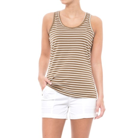 Toad&Co Lean Layering Tank Top - Organic Cotton-Modal (For Women) in Honey Brown Stripe