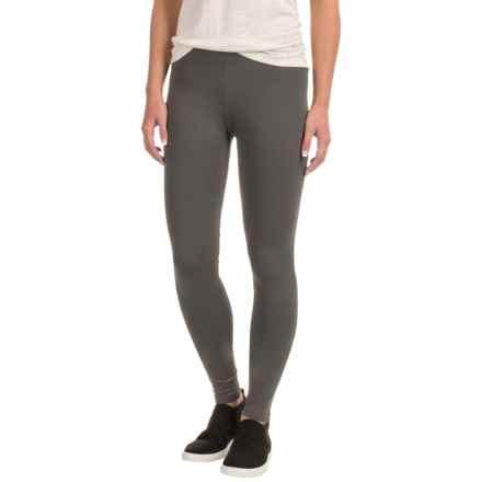 Toad&Co Lean Leggings - Organic Cotton (For Women) in Dark Graphite - Closeouts