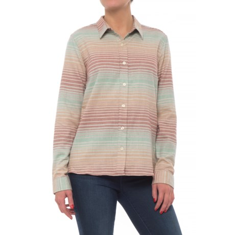 Toad&Co Lightfoot Flannel Shirt - Organic Cotton, Long Sleeve (For Women) in Chai