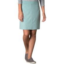 Toad&Co Lobelia Skirt - Organic Cotton-TENCEL® (For Women) in Agate Stripe - Closeouts