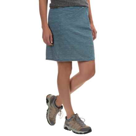 Toad&Co Lobelia Skirt - Organic Cotton-TENCEL® (For Women) in Inky Teal Stripe - Closeouts