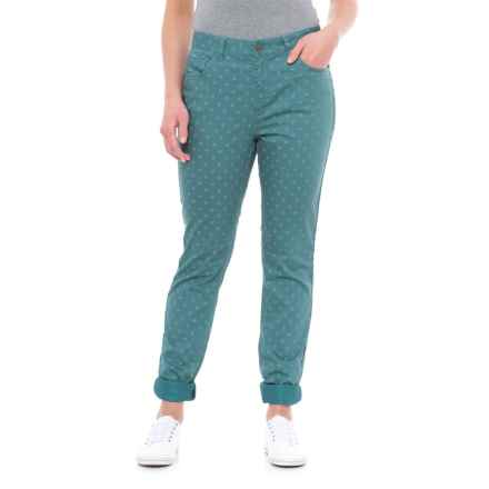 Toad&Co Lola Undenim Stretch Peached Jeans (For Women) in Hydro Polka Dot Print - Closeouts