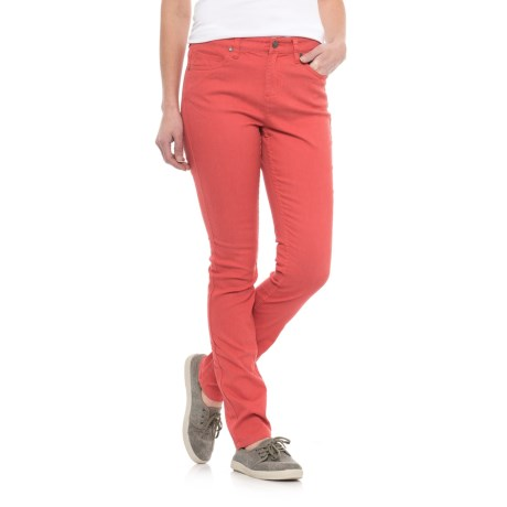 Toad&Co Lola Undenim Stretch Peached Jeans (For Women) in Spiced Coral