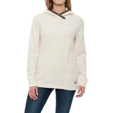 Toad&Co Lookout Heritage Thermal Fleece Hoodie (For Women) in Polar Bear - Closeouts